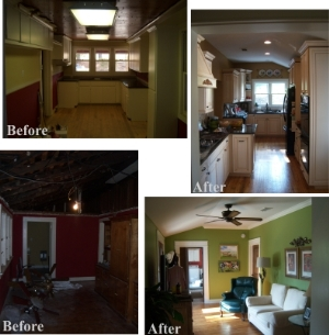 Remodeling Before and After